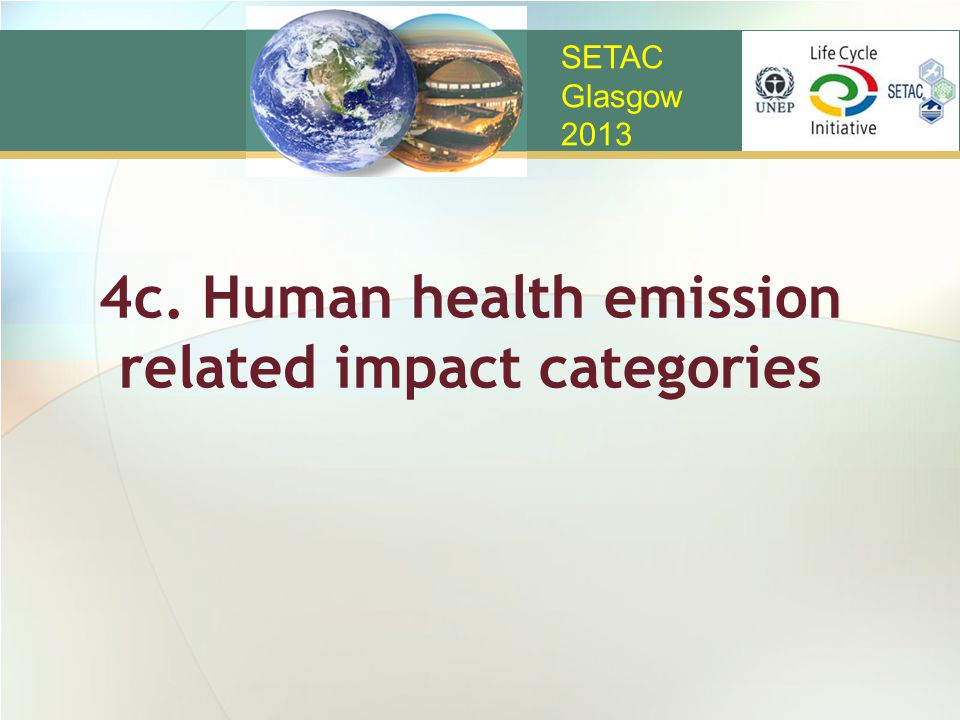 4c. Human health emission related impact categories