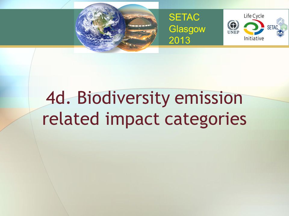 4d. Biodiversity emission related impact categories