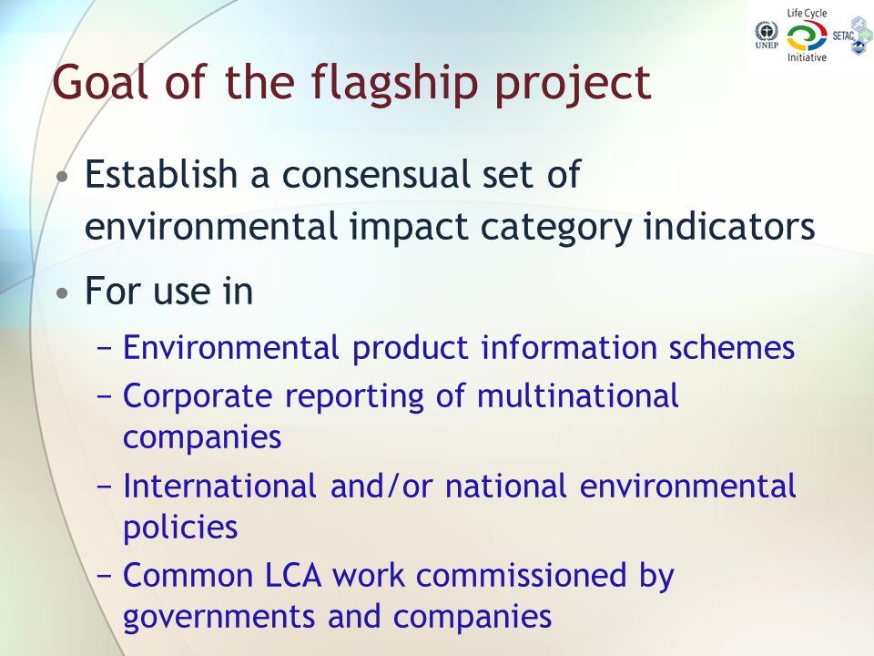 Goal of the flagship project