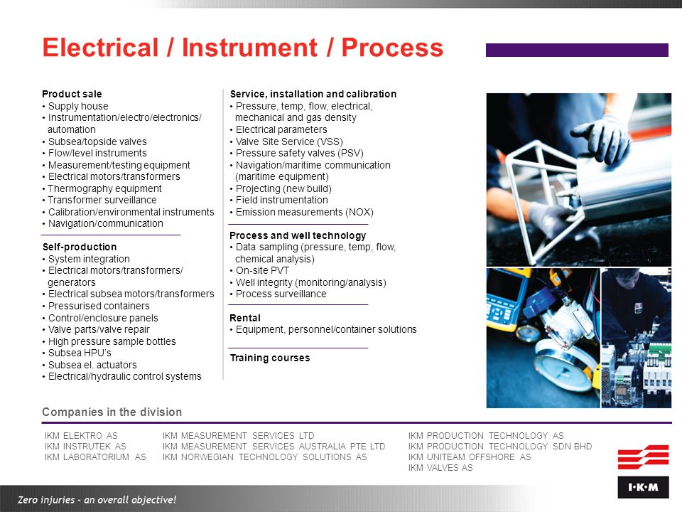 Electrical / Instrument / Process