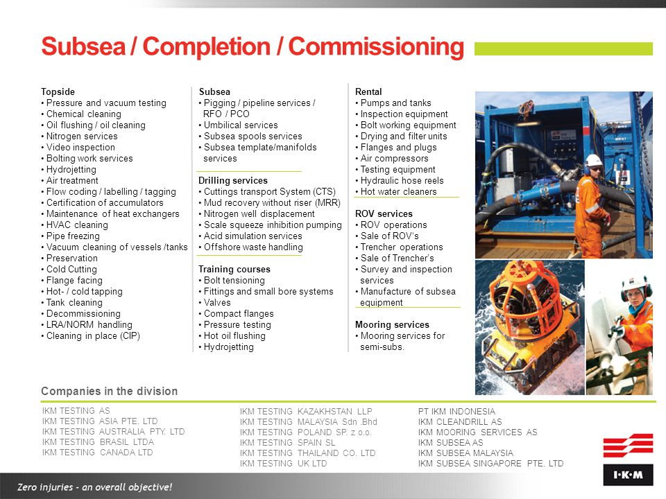 Subsea / Completion / Commissioning