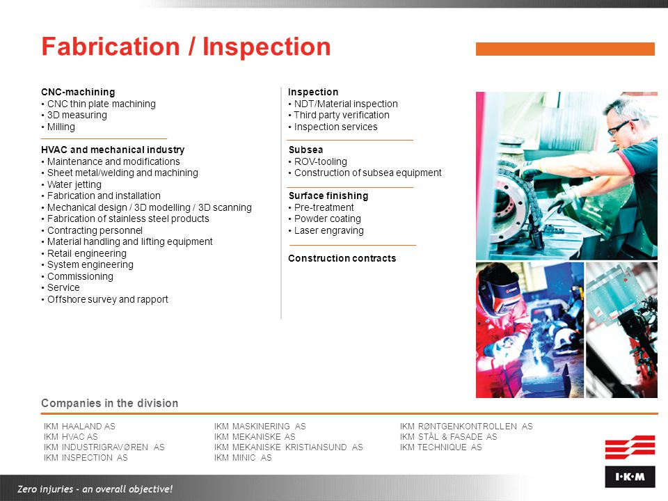 Fabrication / Inspection