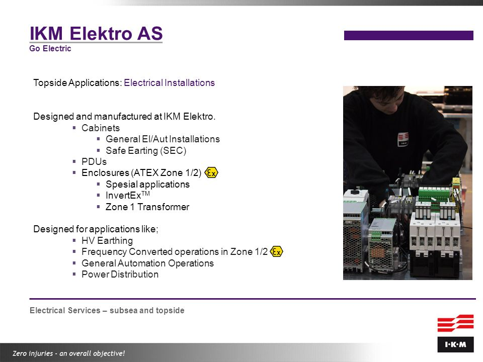 IKM Elektro AS Topside Applications: Electrical Installations