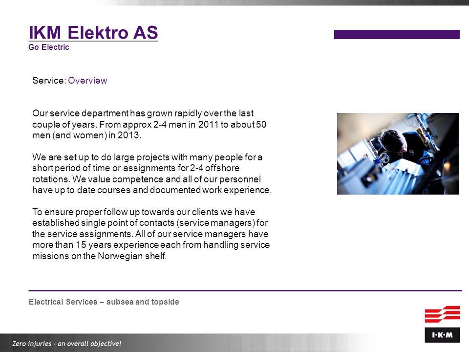 IKM Elektro AS Service: Overview