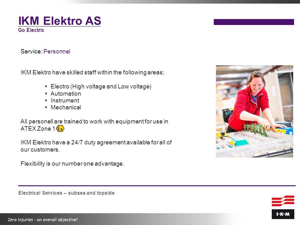 IKM Elektro AS Service: Personnel
