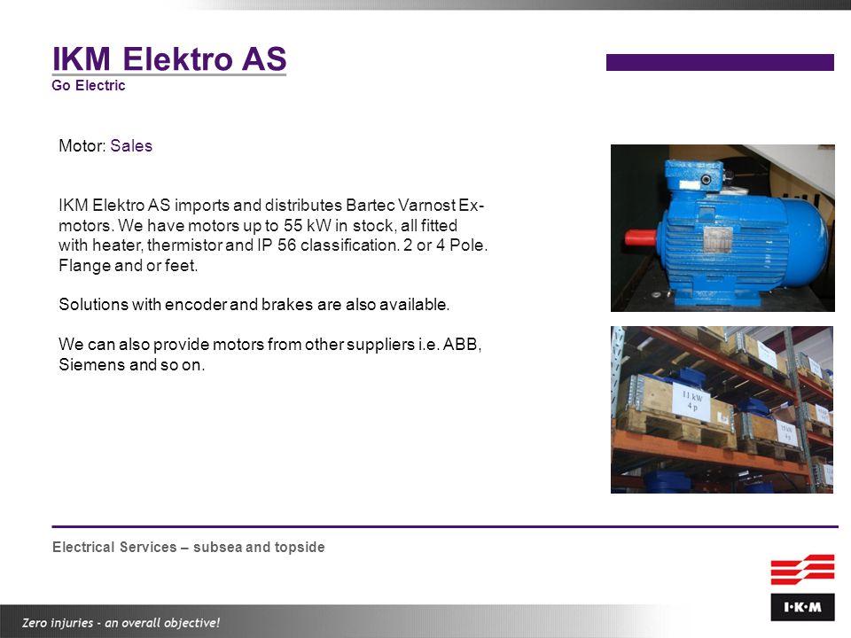 IKM Elektro AS Motor: Sales