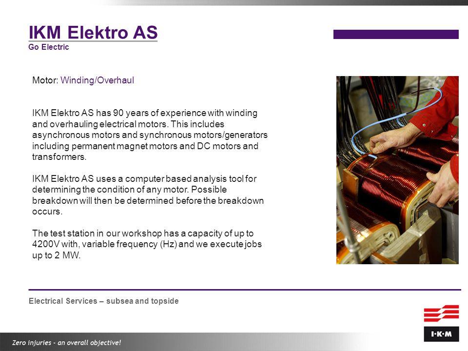 IKM Elektro AS Motor: Winding/Overhaul