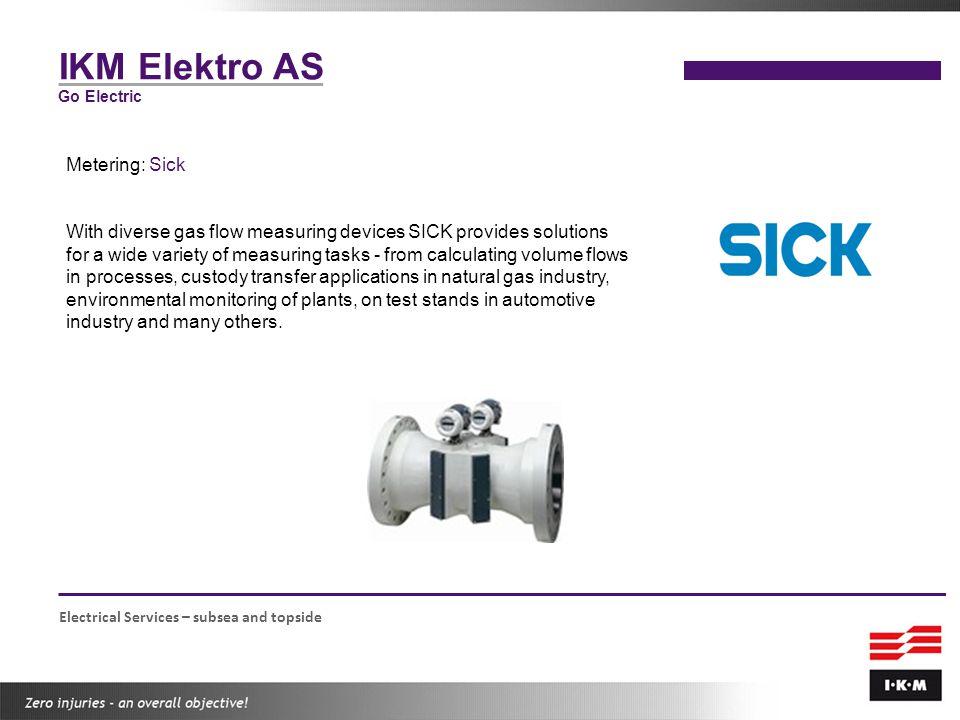 IKM Elektro AS Metering: Sick