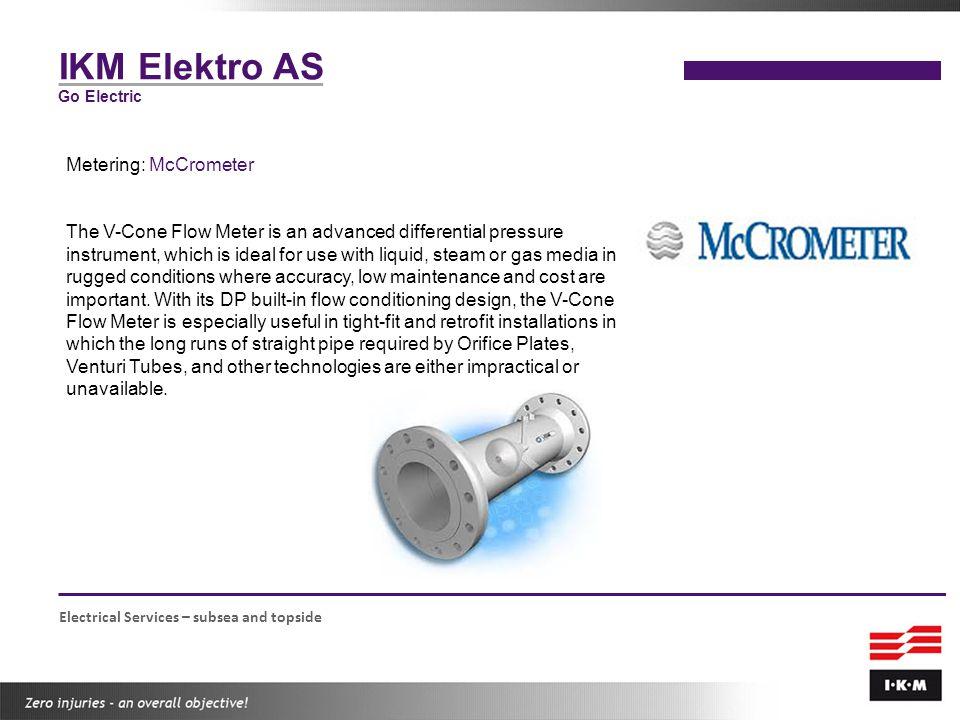 IKM Elektro AS Metering: McCrometer