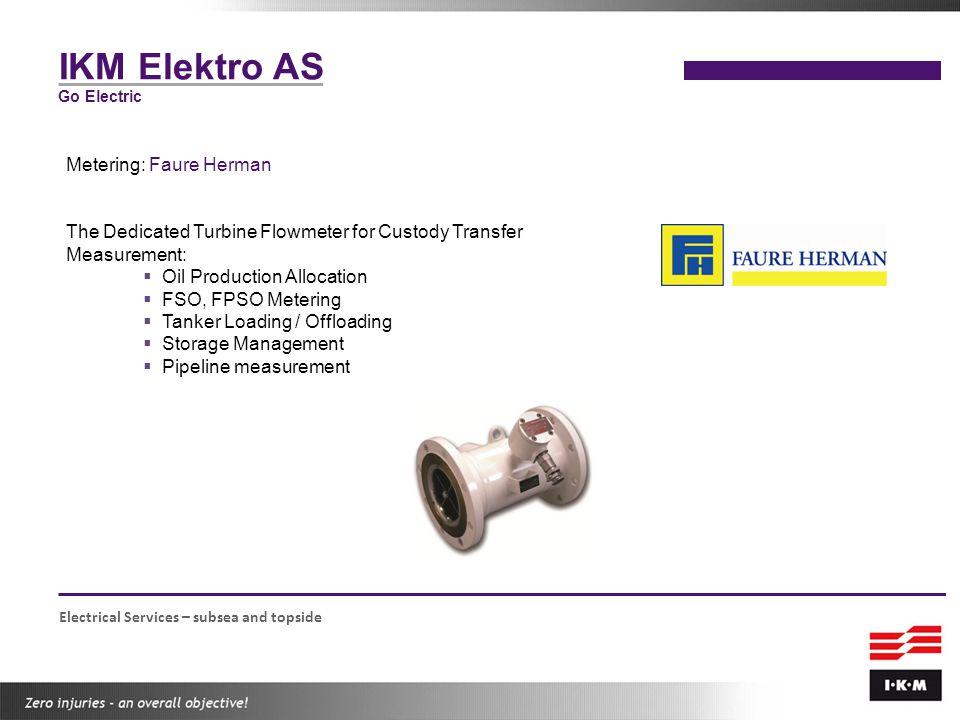 IKM Elektro AS Metering: Faure Herman