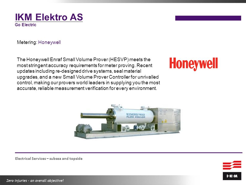 IKM Elektro AS Metering: Honeywell