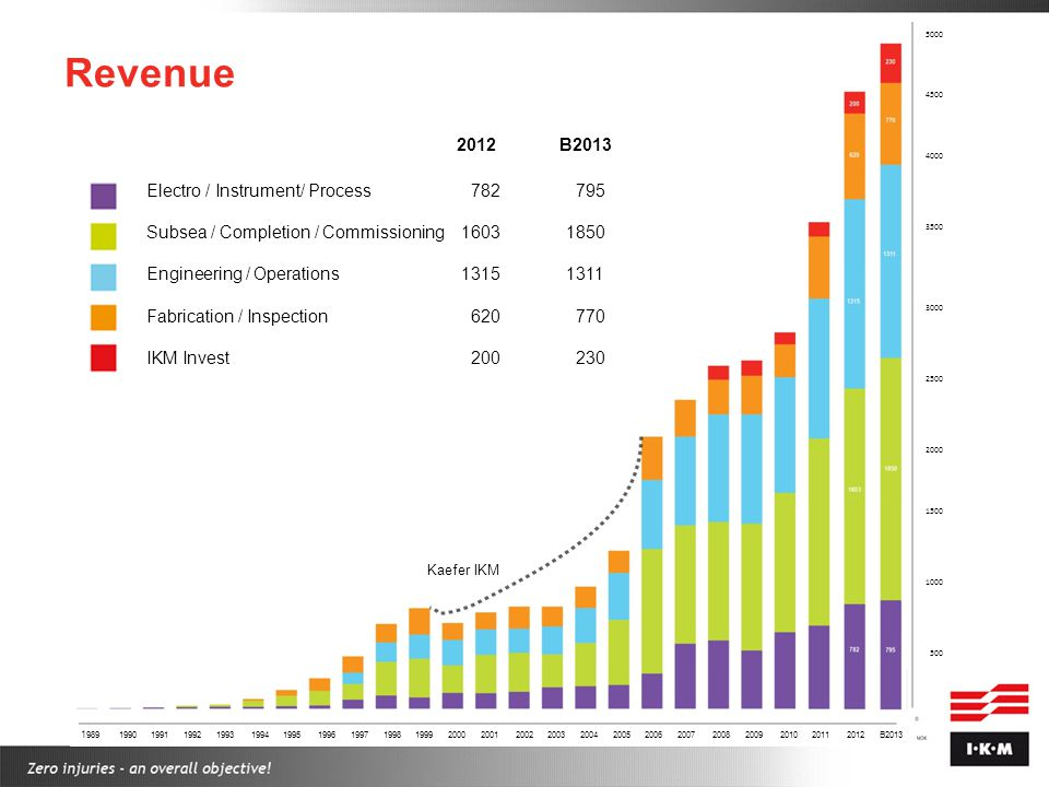 Revenue 2012 B2013 Electro / Instrument/ Process 782 795