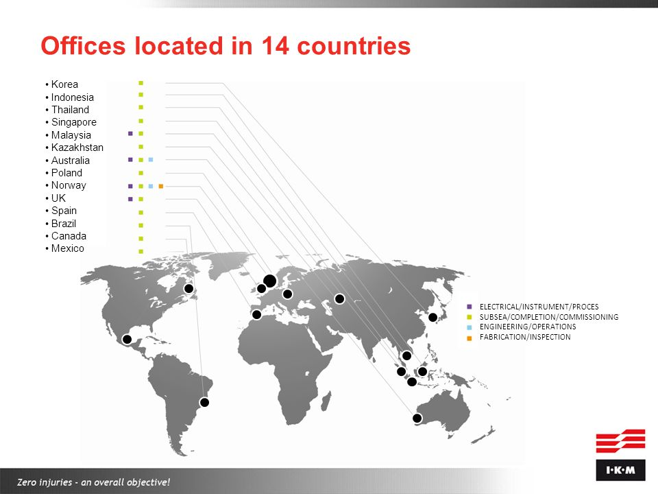 Offices located in 14 countries