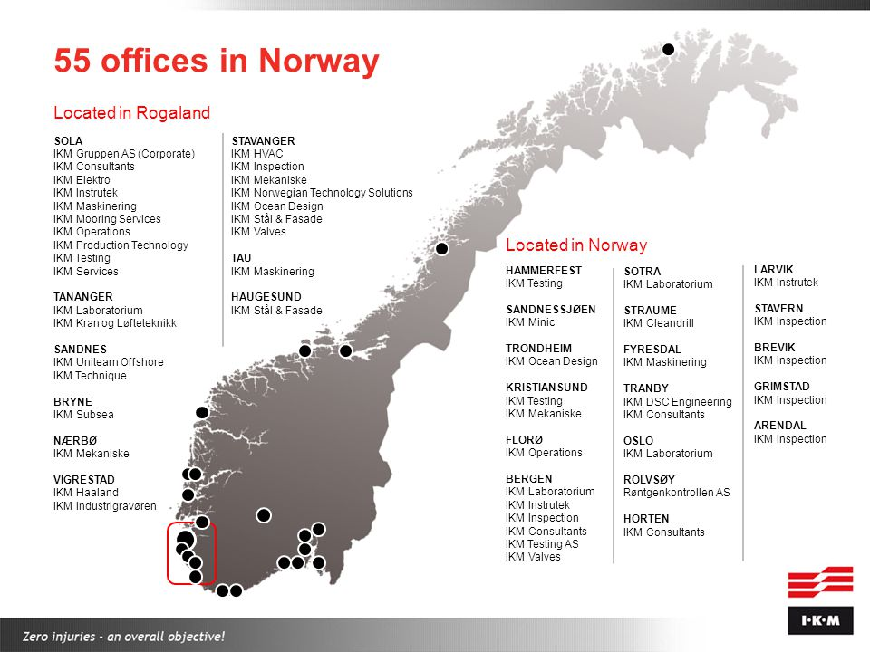 55 offices in Norway Located in Rogaland Located in Norway SOLA