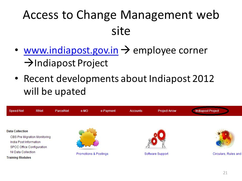 Access to Change Management web site