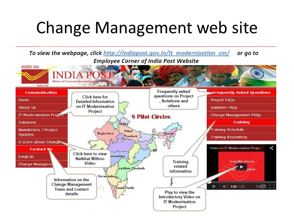 Change Management web site