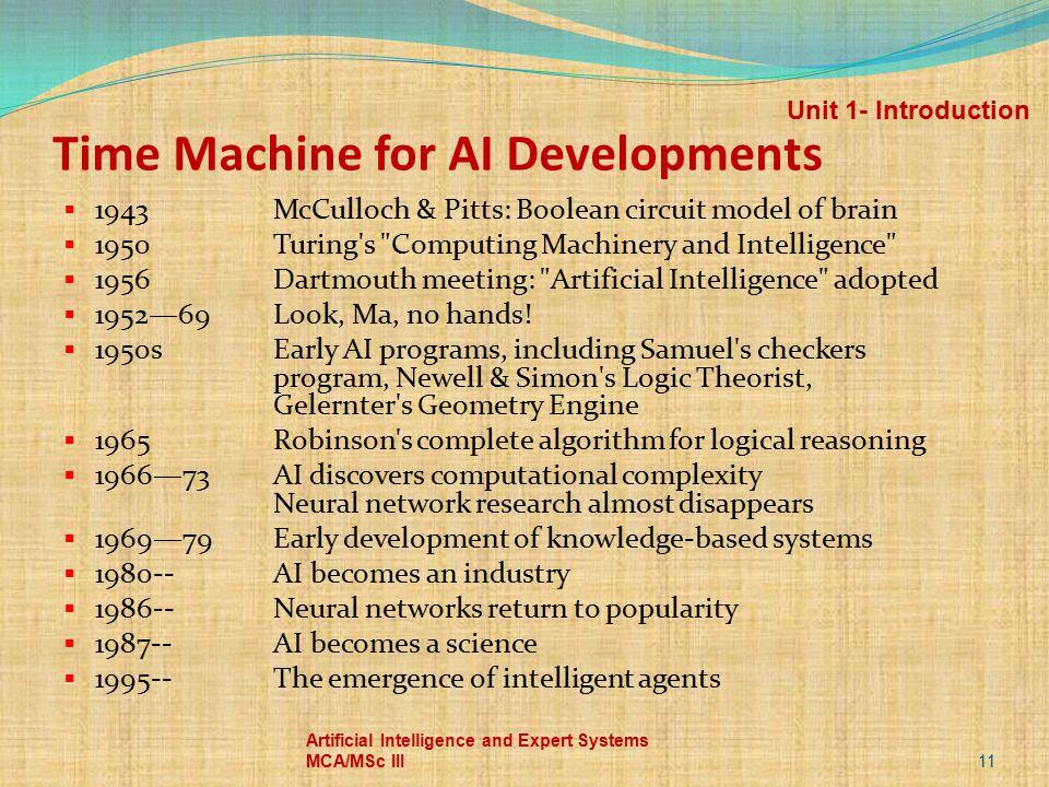 Time Machine for AI Developments