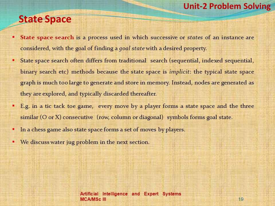 Unit-2 Problem Solving State Space