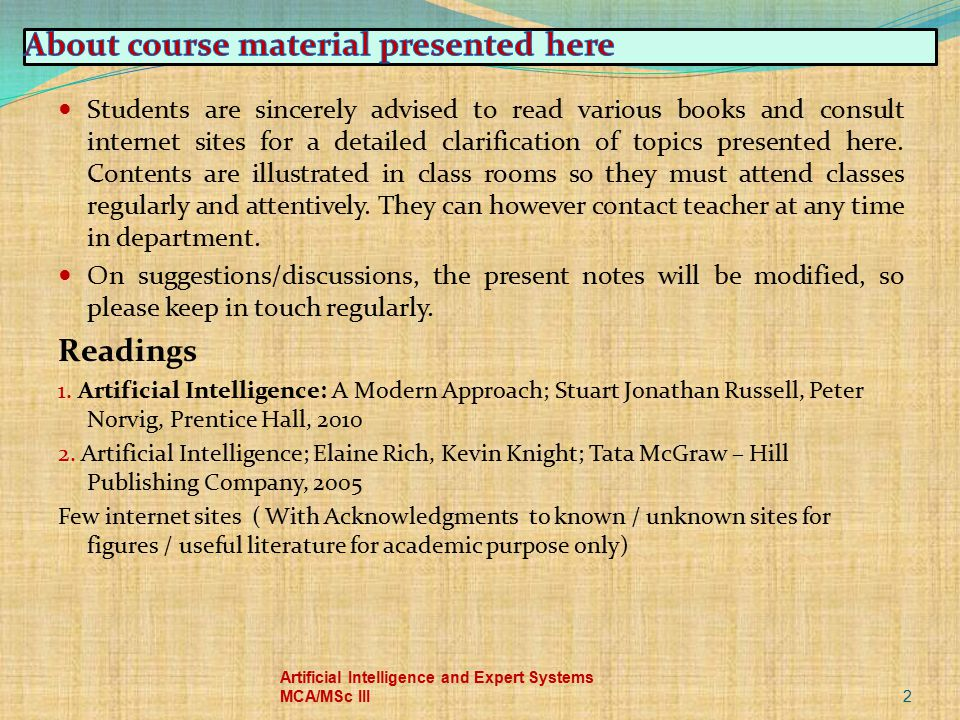 About course material presented here
