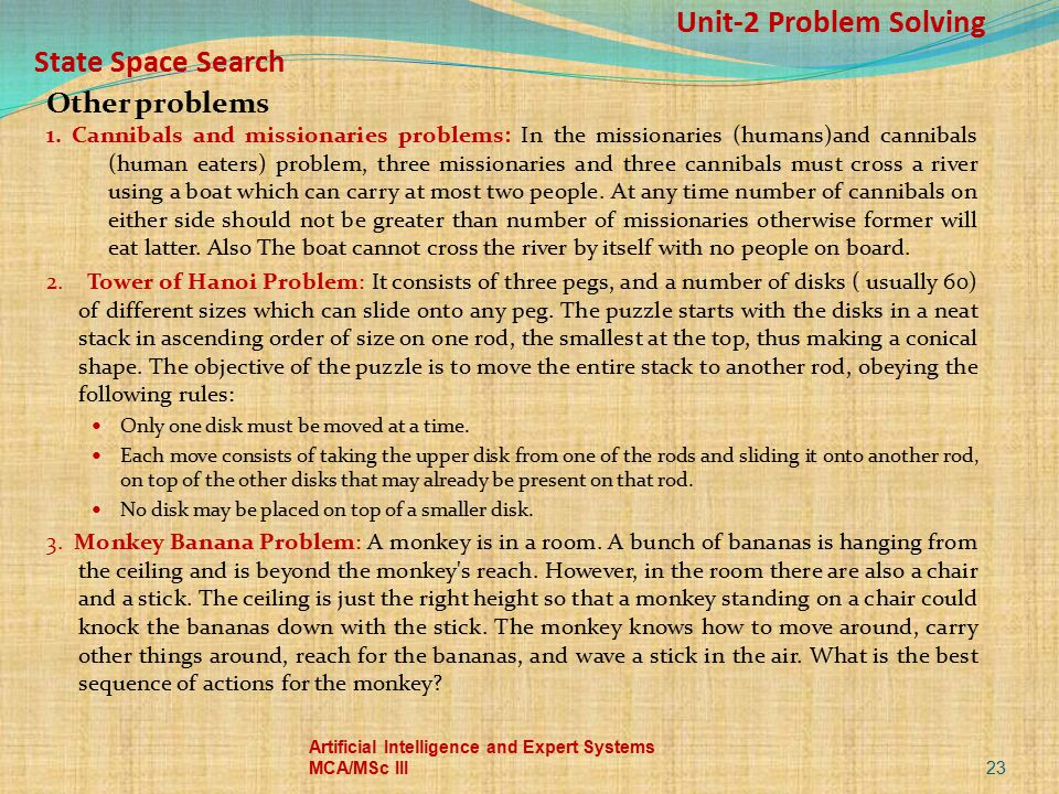 Unit-2 Problem Solving State Space Search