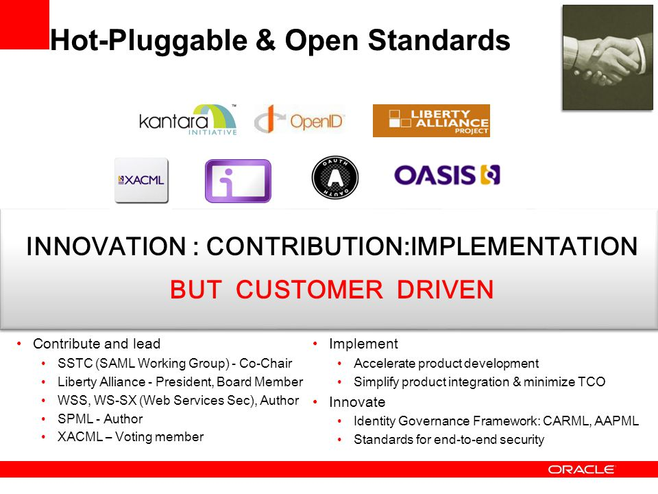 Hot-Pluggable & Open Standards
