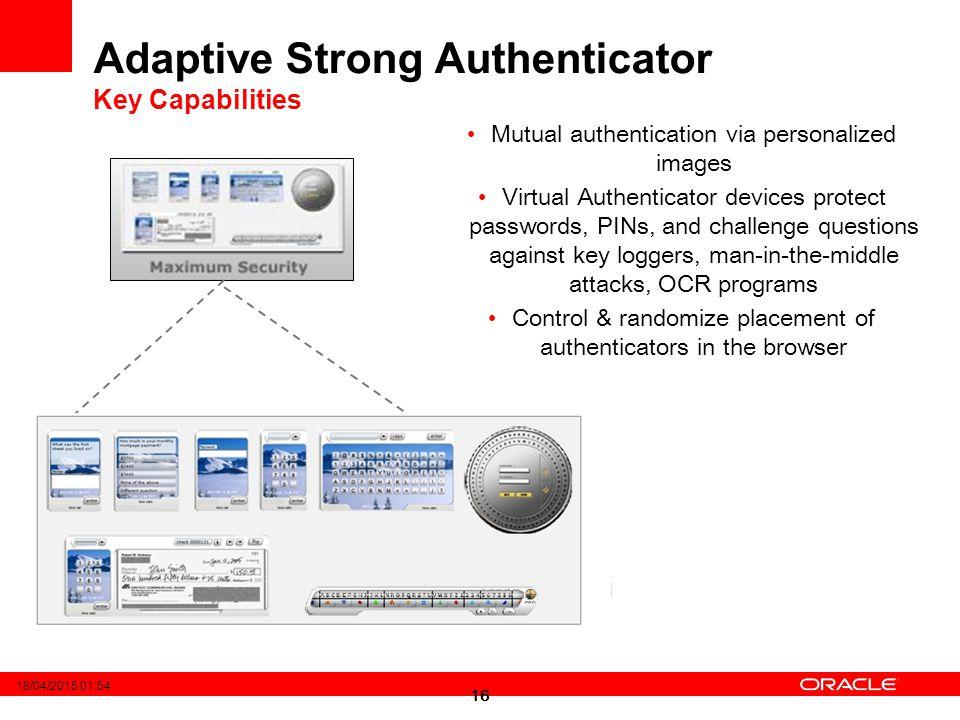 Adaptive Strong Authenticator Key Capabilities