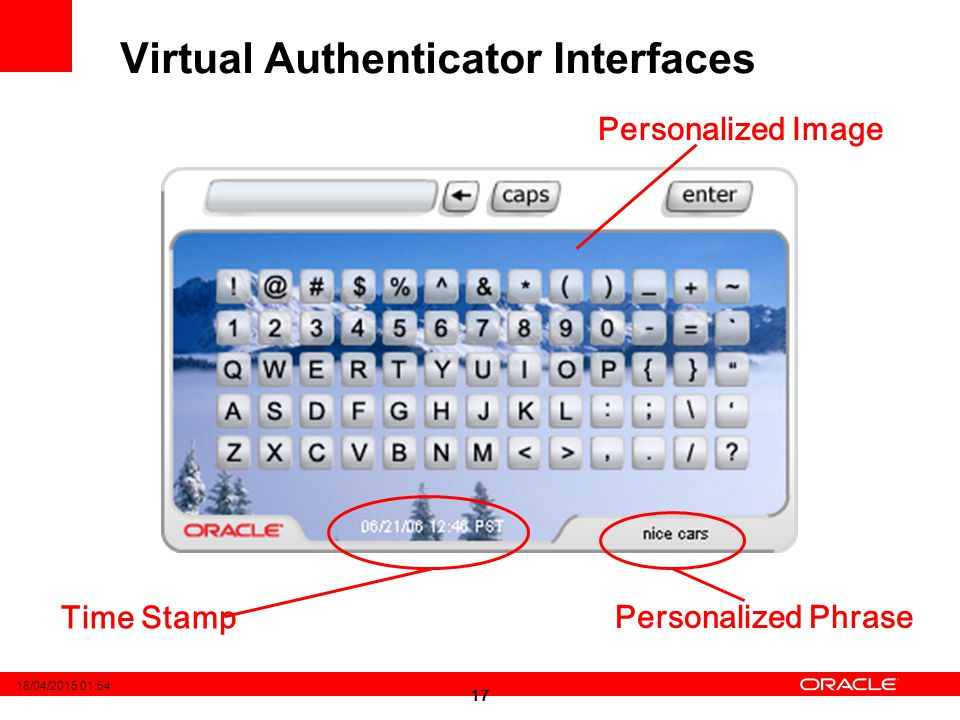 Virtual Authenticator Interfaces