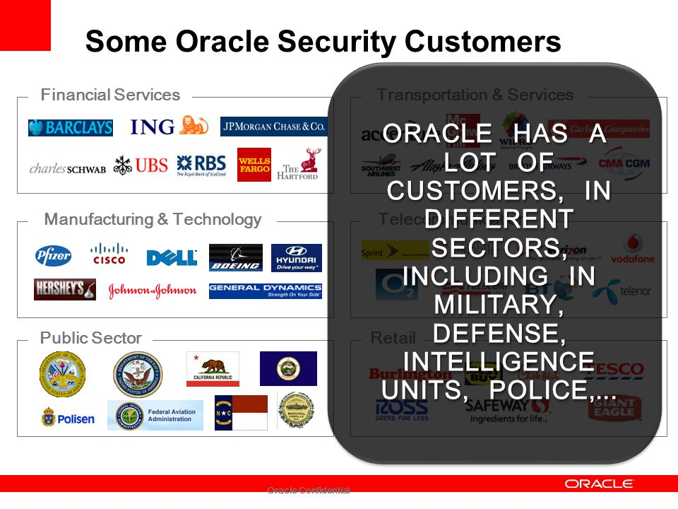 Some Oracle Security Customers
