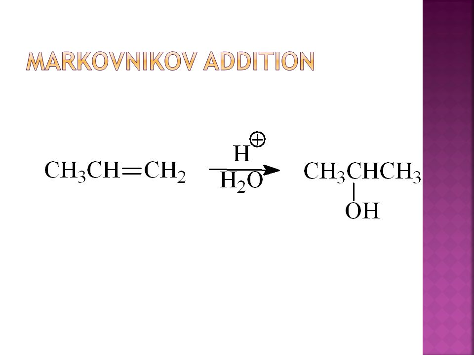 Markovnikov Addition