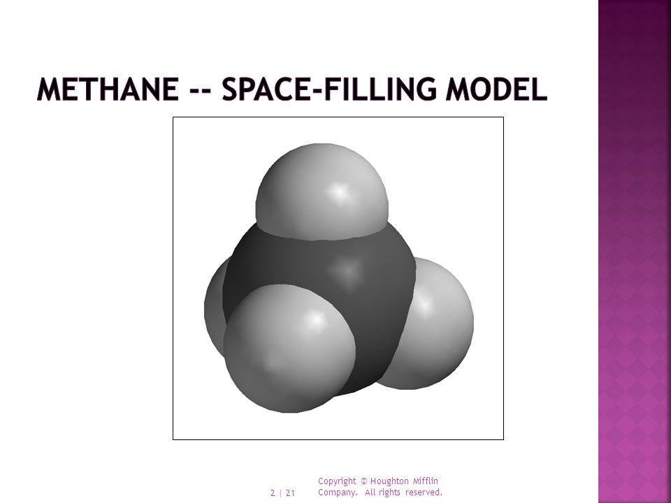 Methane -- space-filling model