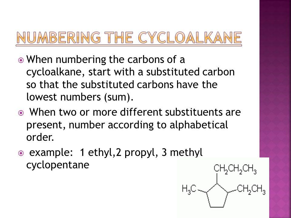 Numbering the Cycloalkane