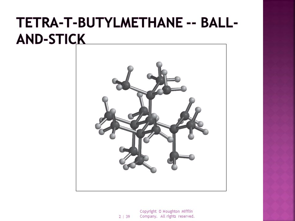 tetra-t-butylmethane -- ball-and-stick