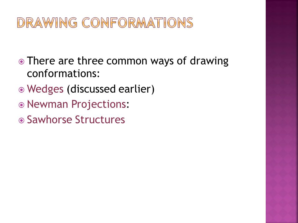 Drawing Conformations