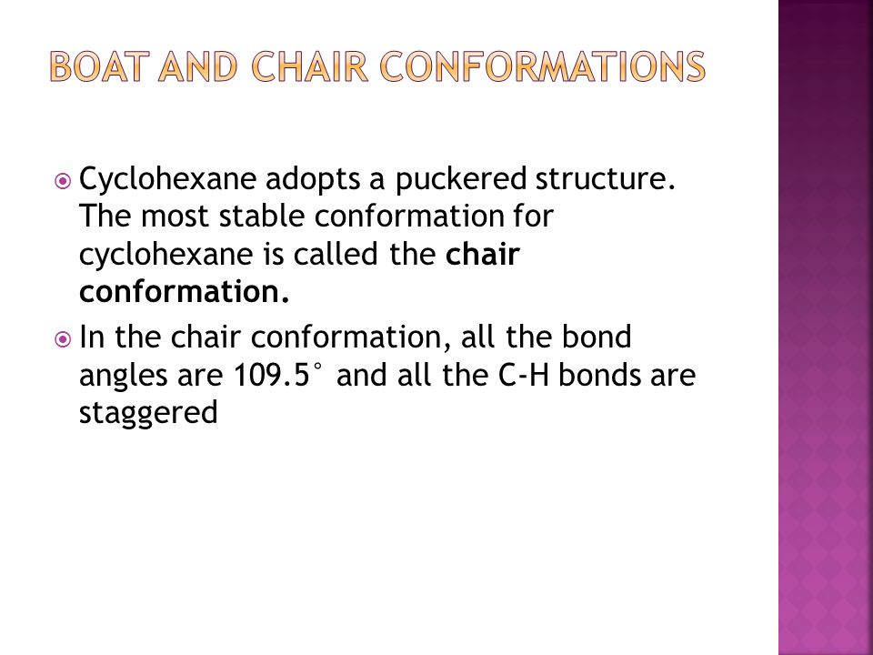 Boat and Chair Conformations