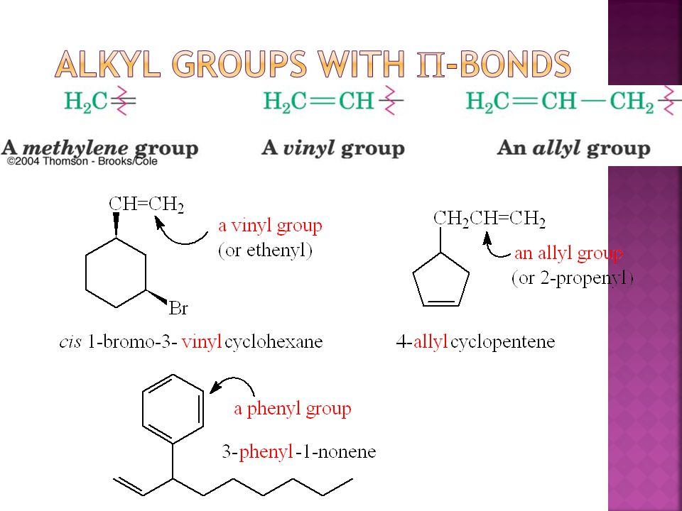 Alkyl Groups with p-Bonds