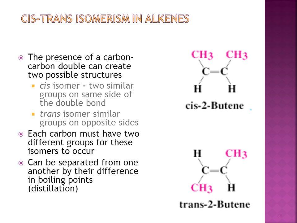 Cis-Trans Isomerism in Alkenes