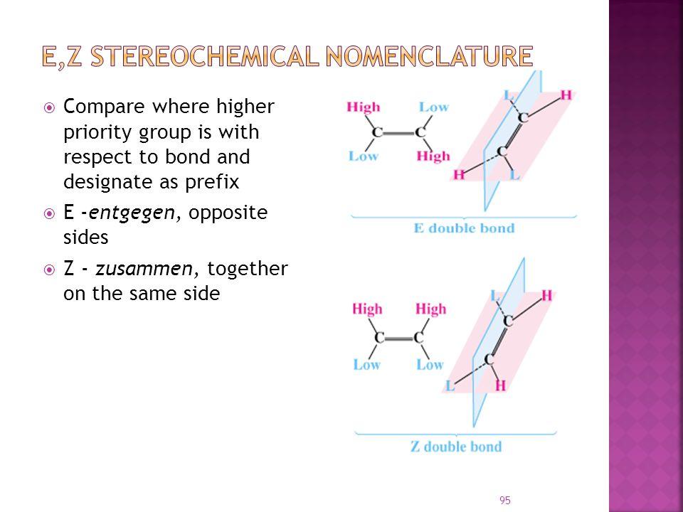 E,Z Stereochemical Nomenclature