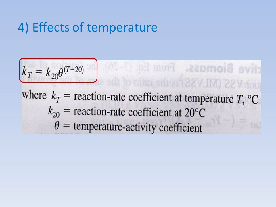 4) Effects of temperature