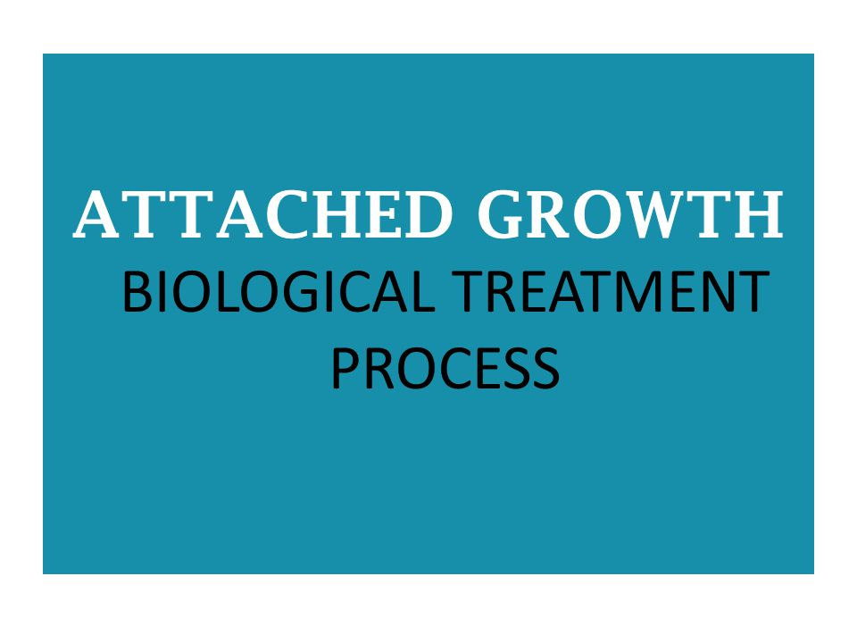 ATTACHED GROWTH BIOLOGICAL TREATMENT PROCESS