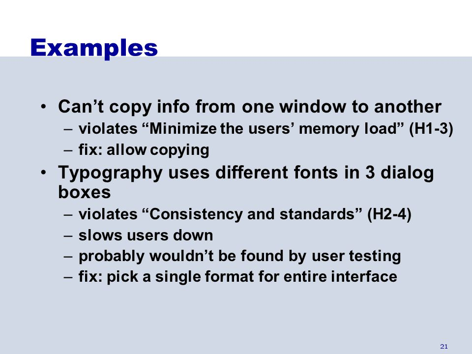 Examples Can't copy info from one window to another