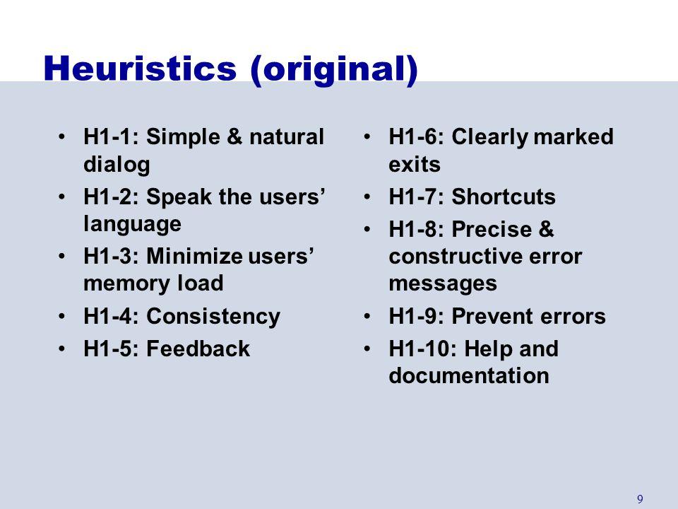 Heuristics (original)