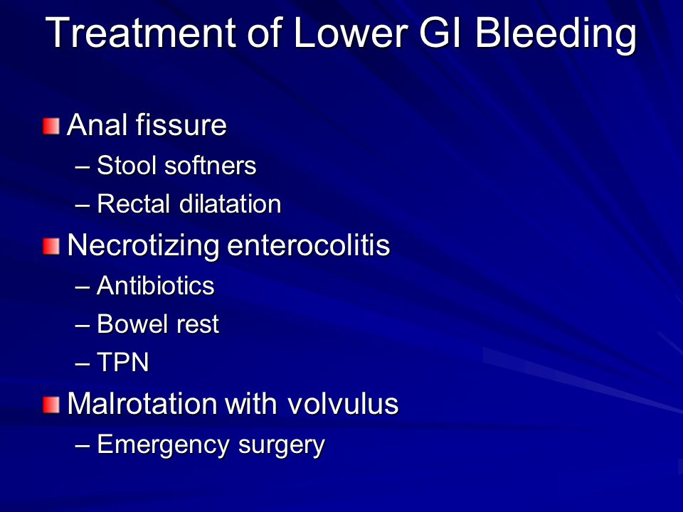 Treatment of Lower GI Bleeding