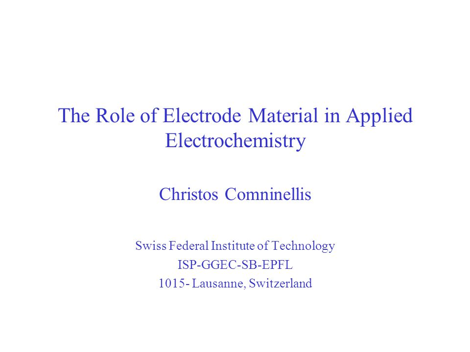The Role of Electrode Material in Applied Electrochemistry