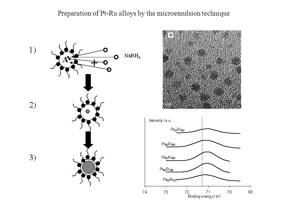 Preparation of Pt-Ru alloys by the microemulsion technique