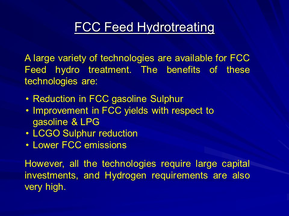 FCC Feed Hydrotreating
