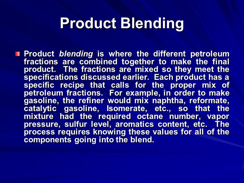 Product Blending