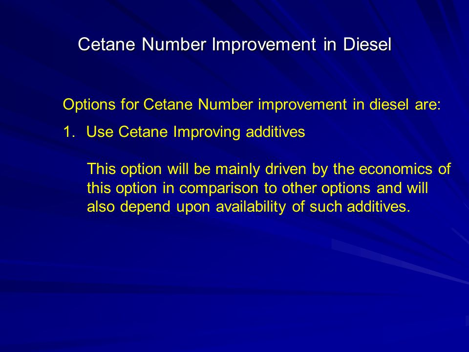 Cetane Number Improvement in Diesel
