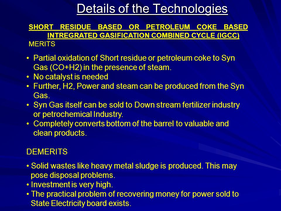 Details of the Technologies