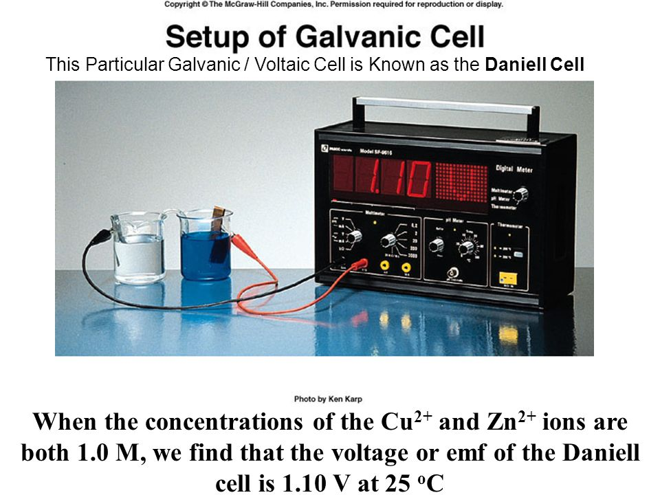 This Particular Galvanic / Voltaic Cell is Known as the Daniell Cell