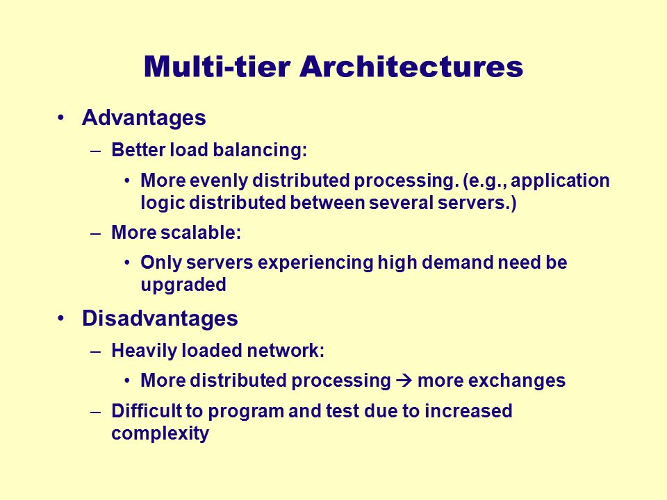 Multi-tier Architectures